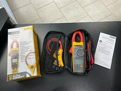 FLUKE 376 FC 1000A AC/DC TRUE RMS WIRELESS CLAMP METER w/IFLEX PROBE & LEADS