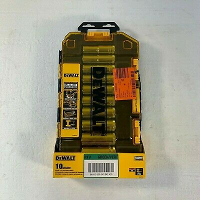 DeWalt 1/2 in. Drive Deep Socket Set (10-Piece) DWMT73815