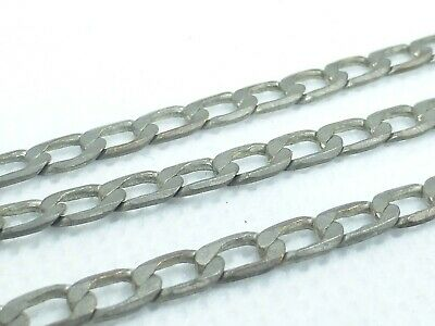 """Antique 925 Solid Sterling Silver Curb Link Fine Chain Necklace 22"""" 9g n22"""