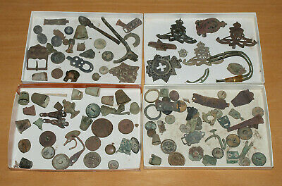 Job Lot of Roughly 100 Interesting Metal Detector Finds, Some Very Old