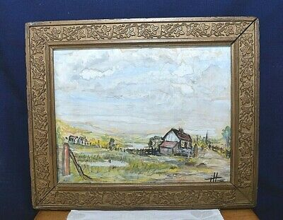 Vintage Original Early Watercolour Painting Signed by Timothy Hawkesworth 1968