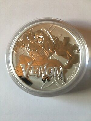 VENOM - MARVEL SERIES 2020 1 oz Pure Silver Coin CAPSULE Tuvalu - Perth Mint