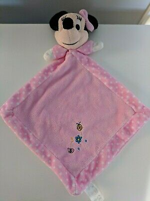 Disney Posh Paws Minnie Mouse baby soft toy comforter comfort blanket / soother