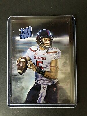 2016 Patrick Mahomes II KC Chiefs Rated Rookie Texas Tech Card RC ACEO