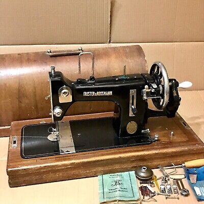 Vintage Frister and Rossmann Model R Sewing Machine - Hand Crank Semi Industrial