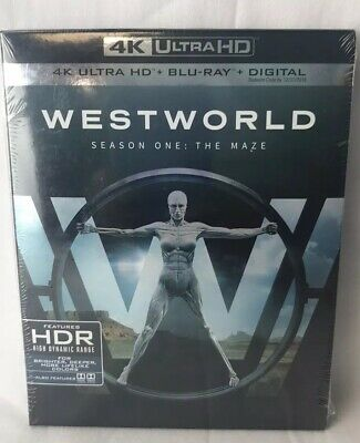 Westworld: The Complete First Season (4K Ultra HD/Blu-ray, 2018) NEW No Digital