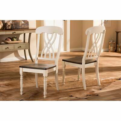 Baxton Studio Newman Shabby Chic Country Cottage Antique Oak Off White