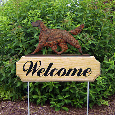 Irish Setter Wood Welcome Outdoor Sign