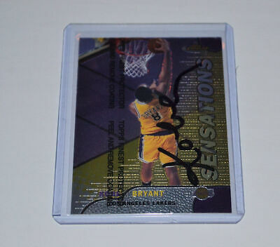 KOBE BRYANT Los Angeles Lakers HAND SIGNED 1999 TOPPS FINEST UNPEELED SENSATIONS