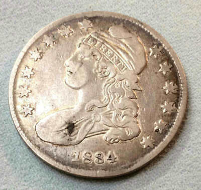 1834 Bust Half Dollar Small Date Small Letters Sharp