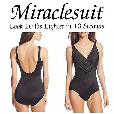 Miraclesuit Womens Blue Underwire Tummy Control Tankini Swimsuit 10 BHFO 2812