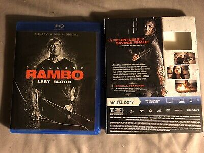 Rambo Last Blood 2019 Blu Ray + Digital HD (NO DVD INCLUDED)