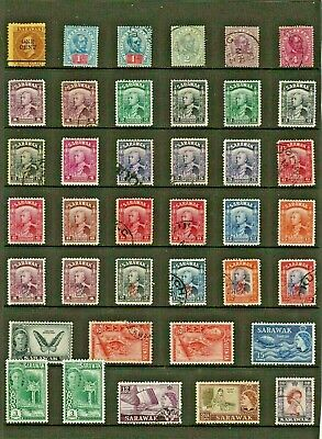 SARAWAK Stamp COLLECTION  majority EARLY Issues MINT USED Ref:QS5a