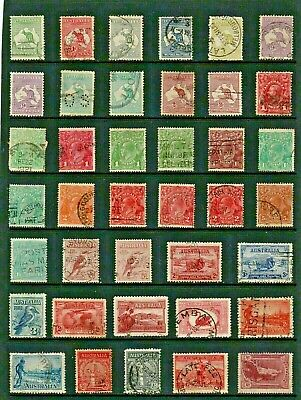AUSTRALIA Stamp COLLECTION  Early ISSUES Including KANGAROOS Ref:QS6a