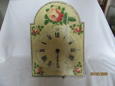 Large Antique Long Cased / Grandfather Clock Face with movement/works Project