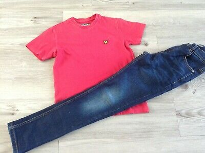 Next Lyle & Scott Boys Small Bundle/Outfit 8-9Yrs Skinny Jeans Designer Top (P11