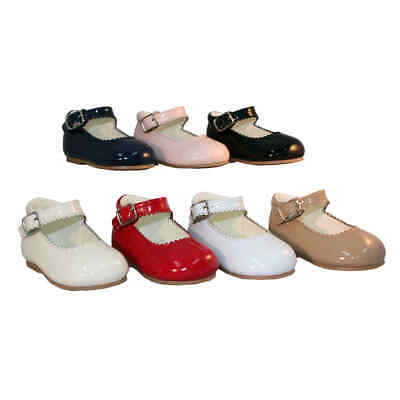 Brand New Toddler Girls Mary Jane Buckle Patent Shoe