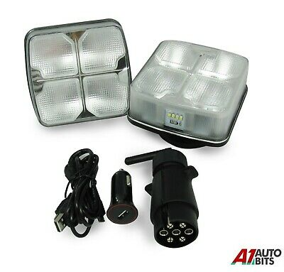 4 Function Wireless Led Magnetic Rear Tail Number Plate Lights Trailer Caravan