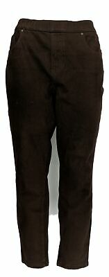 Belle by Kim Gravel Women's Petite Pants 14P Pull-On Jegging Brown A368551