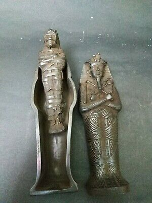 Antique Egyptian Sarcophagus Ancient Middle Kingdom Funerary Tutankhamun Coffin