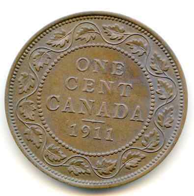 Canada Large Cent 1911 nice HG coin    lotfeb4689