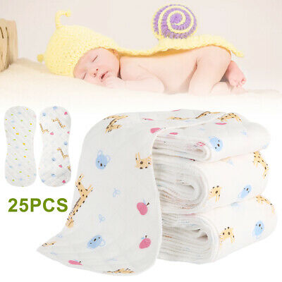 25pcs Reusable Baby Cloth Diapers One Size Washable Cloth Pocket With Insert