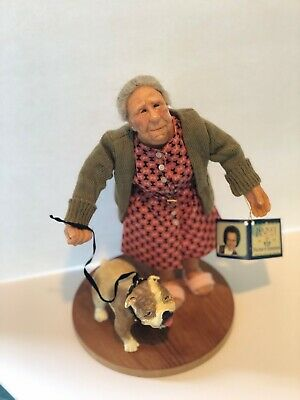 RICHARD SIMMONS Nana's Family Collection of Masters Old woman walking Bull Dog