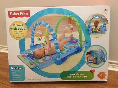 FISHER-PRICE Ocean Wonders Kick & Crawl Gym Baby Lay & Play Tummy Time