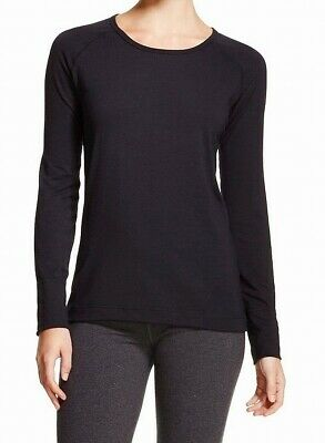 Hot Chillys Womens MTF Knit Top Black Size Large L Raglan Scoop Neck $62 837