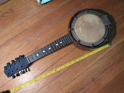 vintage 1800's banjolin banjo-mandolin 8 string instrument folk music early jazz