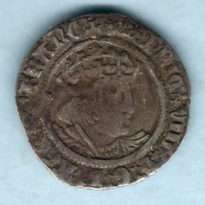 Great Britain. (1526-44) Henry VIII - Groat (Fourpence)..   MM-Rose.. Fine
