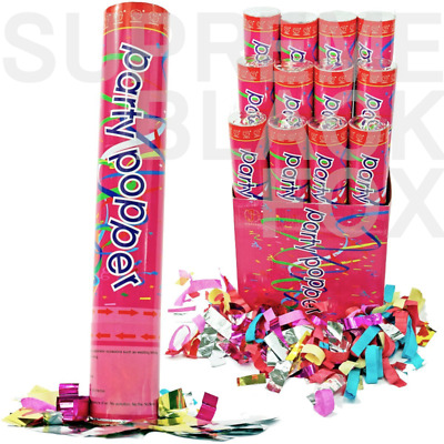 6 x 11cm Party Popper Confetti Cannon Shooter Bomb Birthday Party Wedding Gift