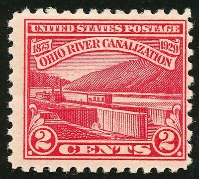 Dr Jim Stamps Us Scott 681 2C Ohio River Unused Og Nh Gum Wrinkle No Reserve