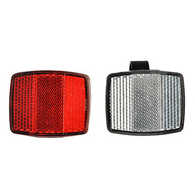 Road Cycle Bike Reflective Strip Bicycle Reflector Light Front Rear Tool SPM