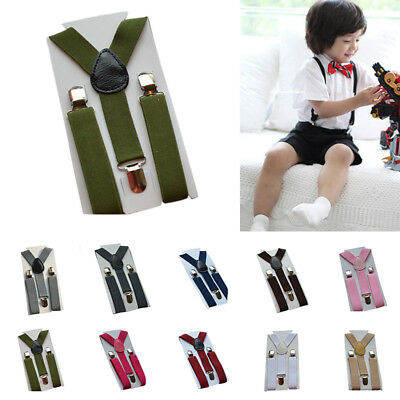 FOR Boys Girls Baby Toddler Children Clip-on Elastic Braces Suspenders 1-10Years