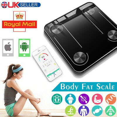 Bathroom Weight Digital Scales Smart Body Fat Muscle BMI Bluetooth Weighing UK