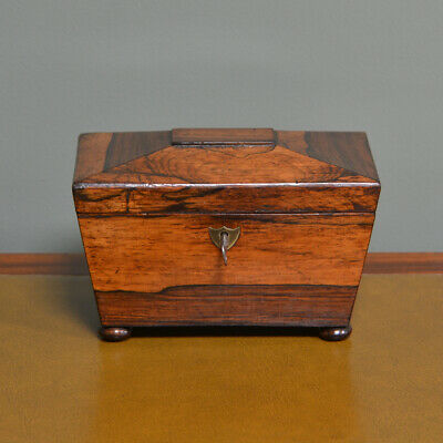 Quality Regency Rosewood Antique Tea Caddy