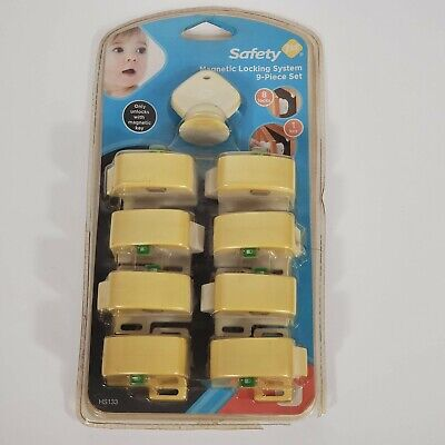 Child Safety Cabinet Drawer Locking System 9-Piece Set Safety 1st Magnetic Lock