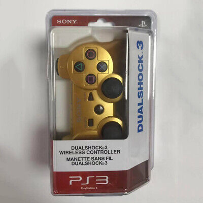 For PS3 Playstation 3 Wireless Dualshock Bluetooth Gamepad Controller Gold
