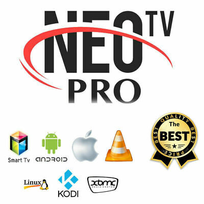 NEO PRO 2 OFFICIEL CODES 12 MOIS (smart tv, box android, m3u) envoi rapide