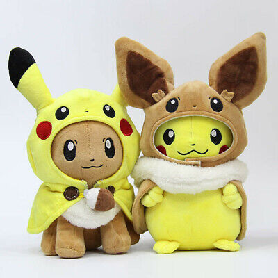 Pokemon Character Toys PLush Doll Pikachu Eevee Teddy Stuffed Soft Toy XMAS Gift