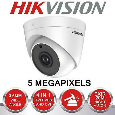 Hikvision 5Mp Ds-2Ce56H0T-It3F Turret Camera 40M Ir Ip67 100% Uk Specification