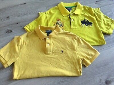 Ralph Lauren Boys Small Bundle Of Designer Polo Shirts Size 10-12Yrs
