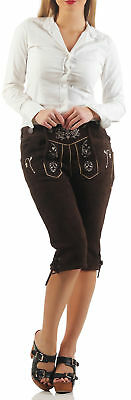Ladies Lederhose Braun Knee-Breeches without Suspenders KNDT1 / Ot