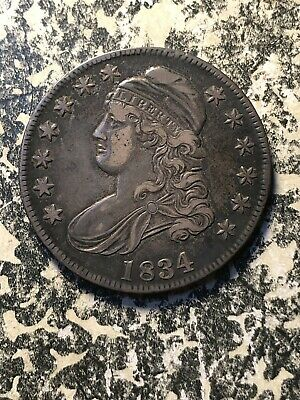 1834 U.S. Capped Bust Half Dollar Lot#DW06 Silver! Nice Circulated Example!