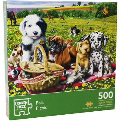 Pals Picnic 500 Piece Jigsaw Puzzle, Toys & Games, Brand New