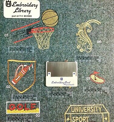 Golf & Sports Embroidery Designs Card For Husqvarna Viking Embroidery Machines