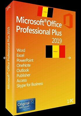 Microsoft Office 2019 Pro Plus Professional Key Lifetime License For Windows.