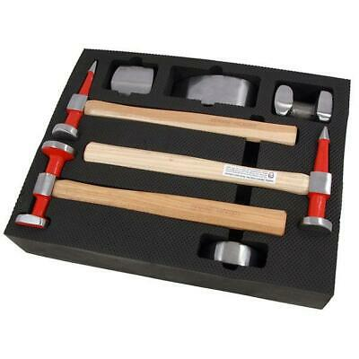 High Grade 7pcs Wooden Handle Body Fender and Panel Beating Hammer Repair Kit138