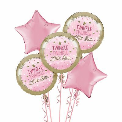 18 Creative Converting 322267 10 Count Metallic Balloon One Little Star Girl 18